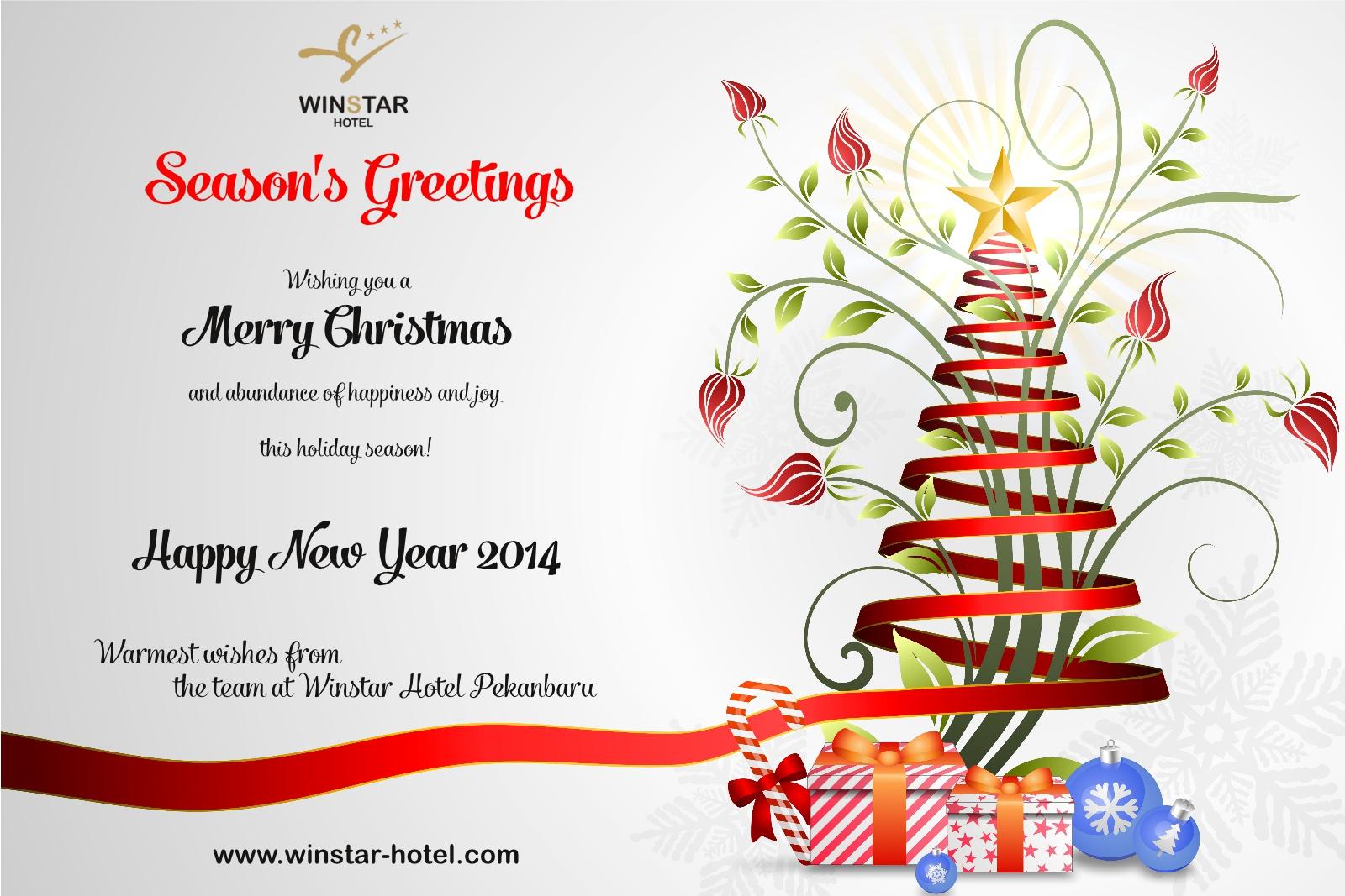 Seasons Greetings From Winstar Hotel Pekanbaru Winstar Hotel